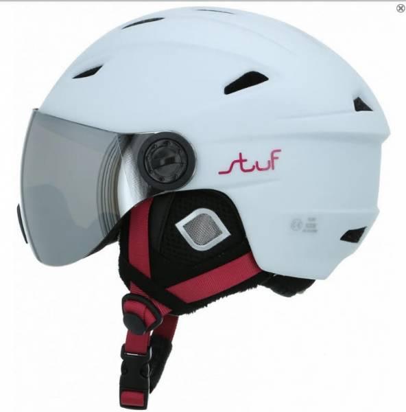 Stuf Visor Jr. Kinder Skihelm Snowboardhelm Wintersport Helmet white-berry NEU