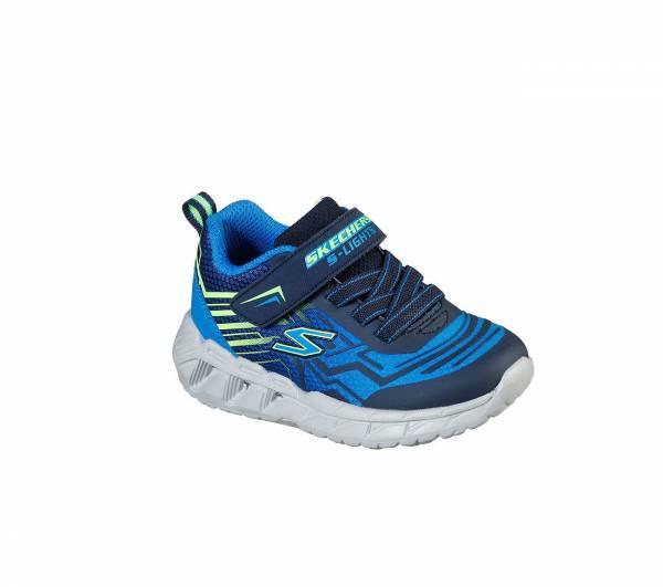Skechers S Lights Magna Lights Bozler Kinder Freizeitschuhe Sneaker blau NEU