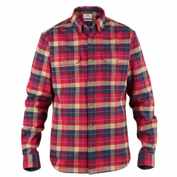 Fjällräven Singi Heavy Flannel Shirt Herren Hemden Langarm Freizeit rot NEU