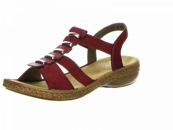 Rieker Damen Sandalette rot Damenschuhe Freizeit Sandale NEU - Bild 1