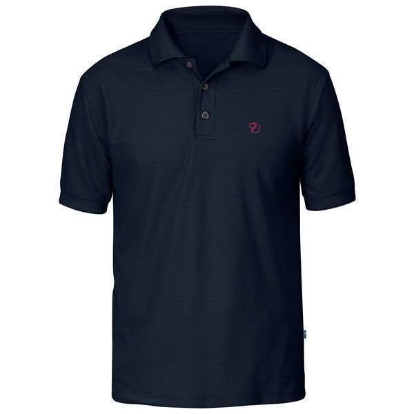 Fjällräven Crowley Pique Shirt Herren Poloshirt Funktion Outdoor blau NEU