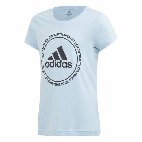 adidas TR Prime Tee Mädchen Sportshirt T-Shirt Fitness Freizeit blau NEU - Bild 1