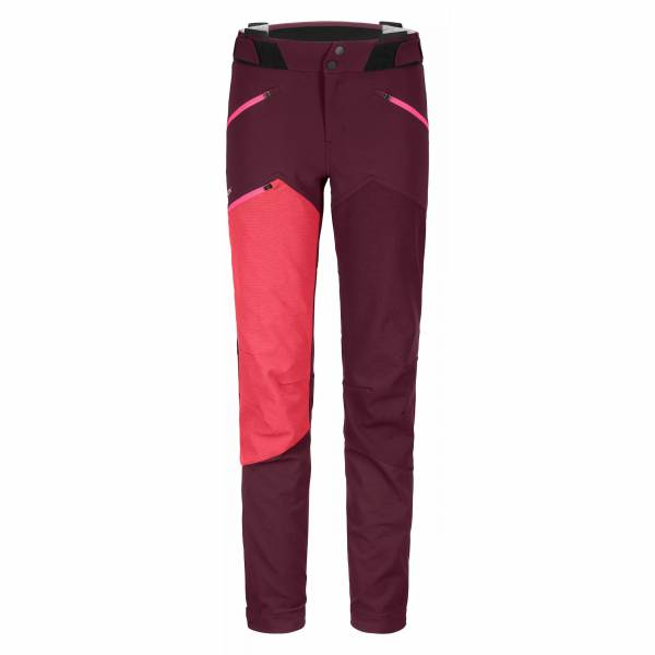 Ortovox Westalpen Softshell Pants Damen Trekkinghose Outdoor Funktion rot NEU