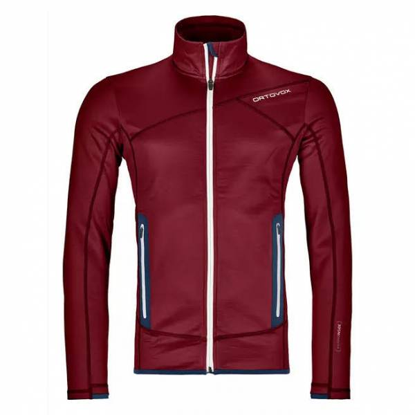 Ortovox Fleece Jacket Herren Midlayer Funktion Outdoor Freizeit rot NEU