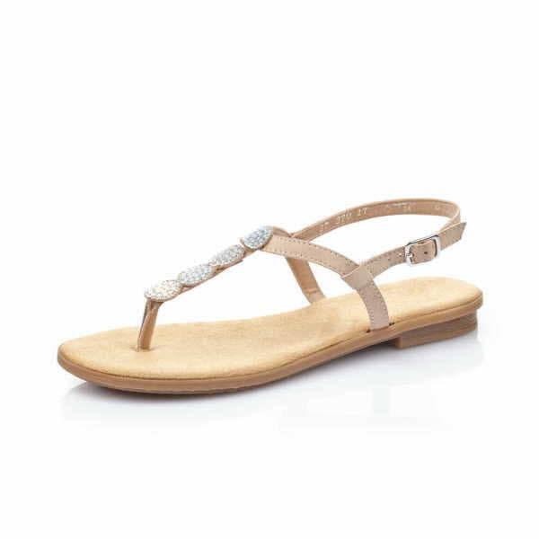 Rieker Sandalette Damen Flip Flop Sandale Sommerschuhe modisch rosa NEU - Bild 1