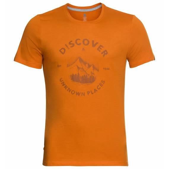 Odlo Nikko Print T-Shirt Funktionsshirt Outdoor Wandern Herren grün NEU - Bild 1