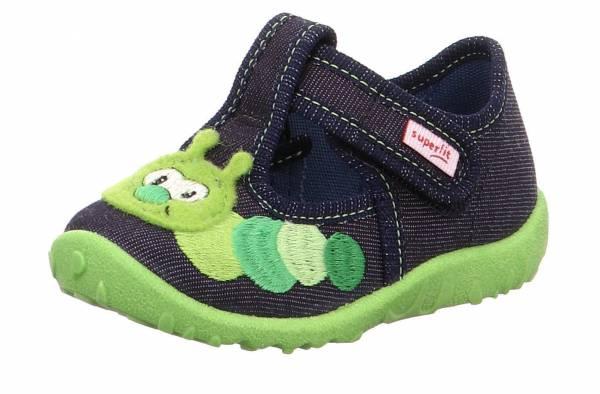 Superfit Spotty Kinder Hausschuhe Pantoffeln Kletter Freizeitschuhe blau NEU