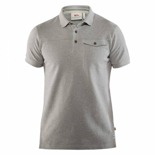 Fjällräven Grenland Polo Shirt M Herren Bio-Baumwolle grau NEU
