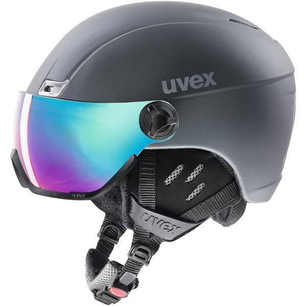 Uvex hlmt 400 visor style Skihelm mit Visier titanium mat NEU - Bild 1