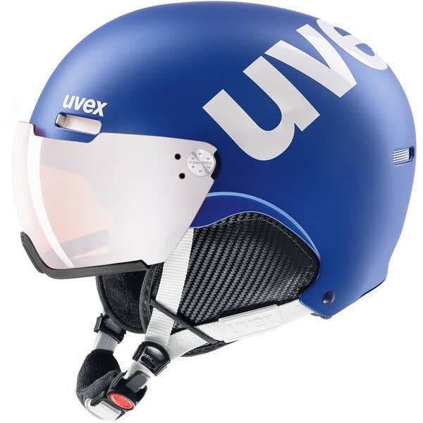 Uvex hlmt 500 Visor Skihelm Snowboardhelm mit Visier cobalt white mat NEU - Bild 1
