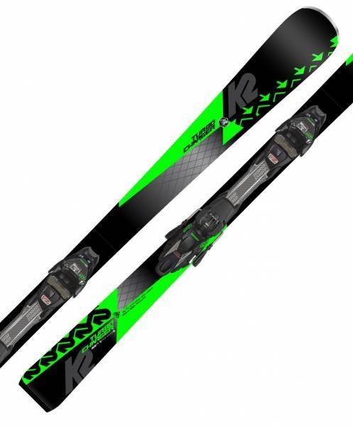 K2 Turbo Charger 18/19 Sport Performance Speed Rocker Alpin Ski Set NEU