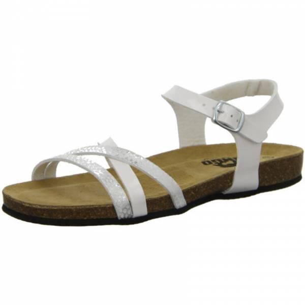 Longo Sandalette Damen Riemchensandalette Pantolette Sandale modisch weiß NEU - Bild 1
