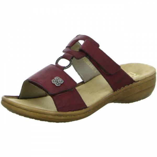 Rieker Pantolette Damen Sommerschuhe Sandalette elegant modisch rot NEU