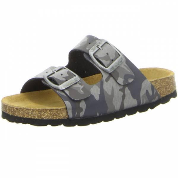 Longo Sandale Herren Kinder Hausschuhe Pantolette Zweiriemer modisch grau NEU - Bild 1