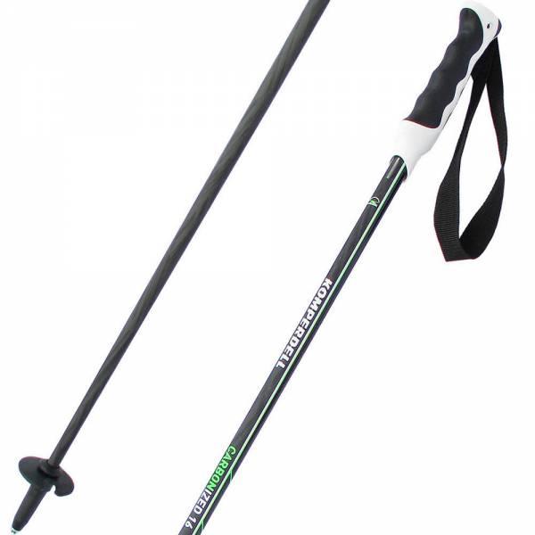 Komperdell Carbonized 16 Black/Green 18/19 Unisex Skistöcke Alpine Ski Poles NEU - Bild 1