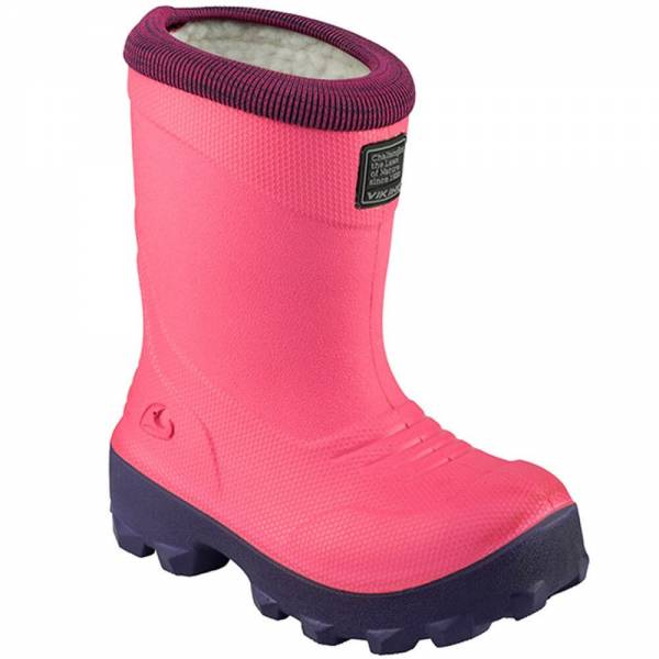 Viking FROST FIGHTER Pink Kinder Winterstiefel Gummistiefel Thermo Wolle NEU